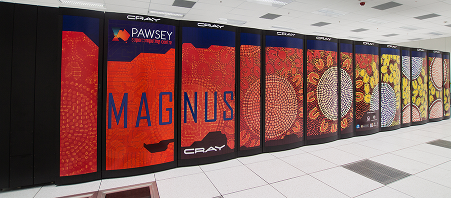 Magnus at the Pawsey Centre, the most powerful supercomputer in the Southern Hemisphere!