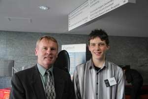 Astronaut Andy Thomas and ICRAR Work Experience Student Cooper Lee.