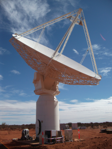 The Australian Square Kilometre Array Pathfinder's first dish. Credit: Photography by Paul Bourke and Jonathan Knispel. Supported by WASP (UWA), iVEC, ICRAR, and CSIRO
