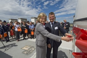 Cutting the ribbon at the launch of SPIRIT.