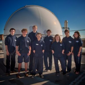 Students visiting the SPIRIT observatories at UWA.