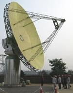 The first ASKAP antenna during factory acceptance testing. Credit: Carole Jackson, CSIRO