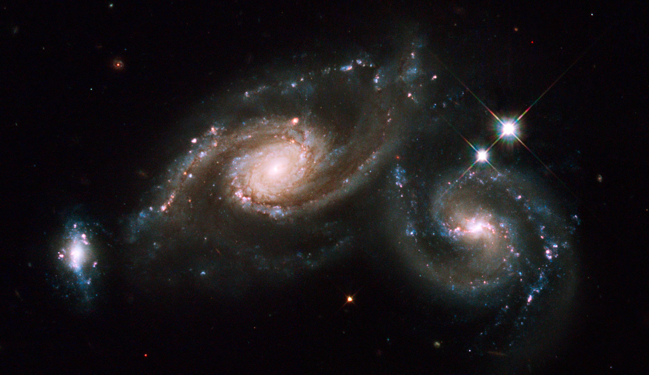 Pan-STARRS1's design will allow it to observe large sections of sky to image distant galaxies. Click to enlarge. Credit: NASA, ESA, M. Livio and the Hubble Heritage Team (STScI/AURA).