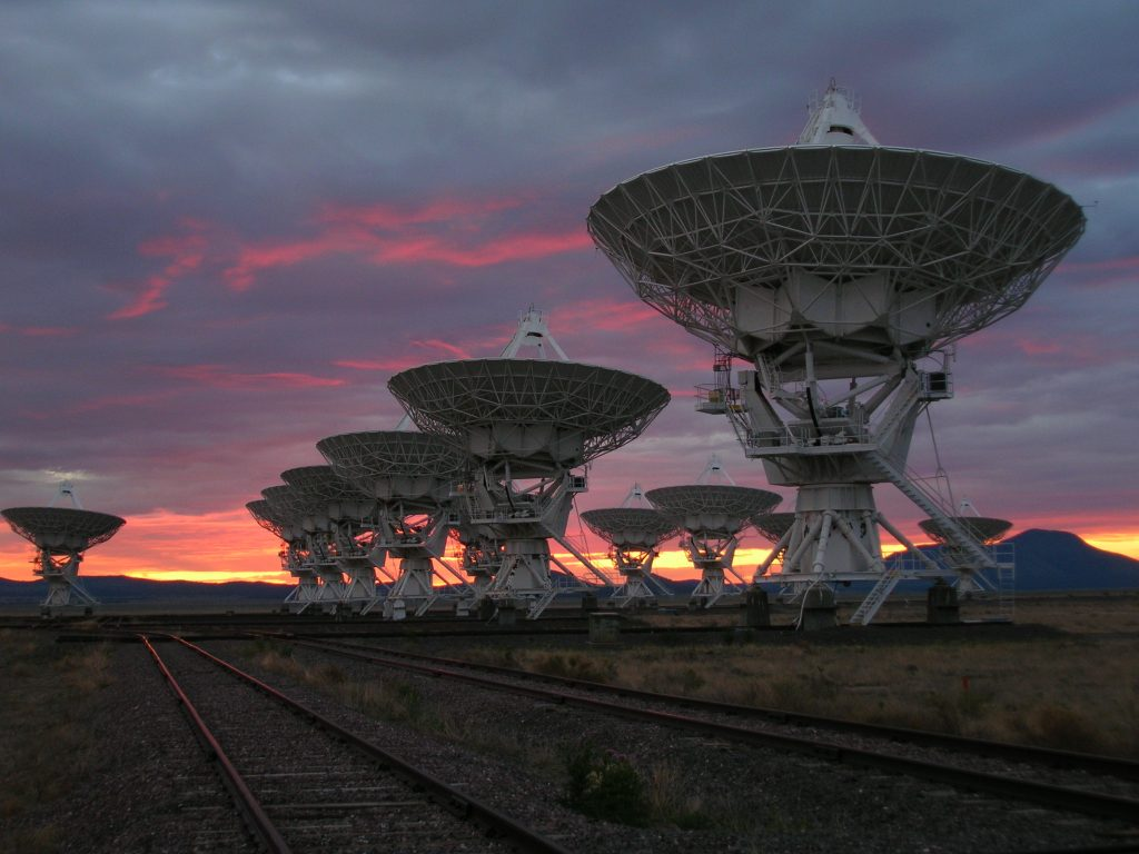 The Karl G. Jansky Very Large Array, an instrument of the US National Radio Astronomy Observatory. Credit: D. Finley, NRAO/AUI/NSF