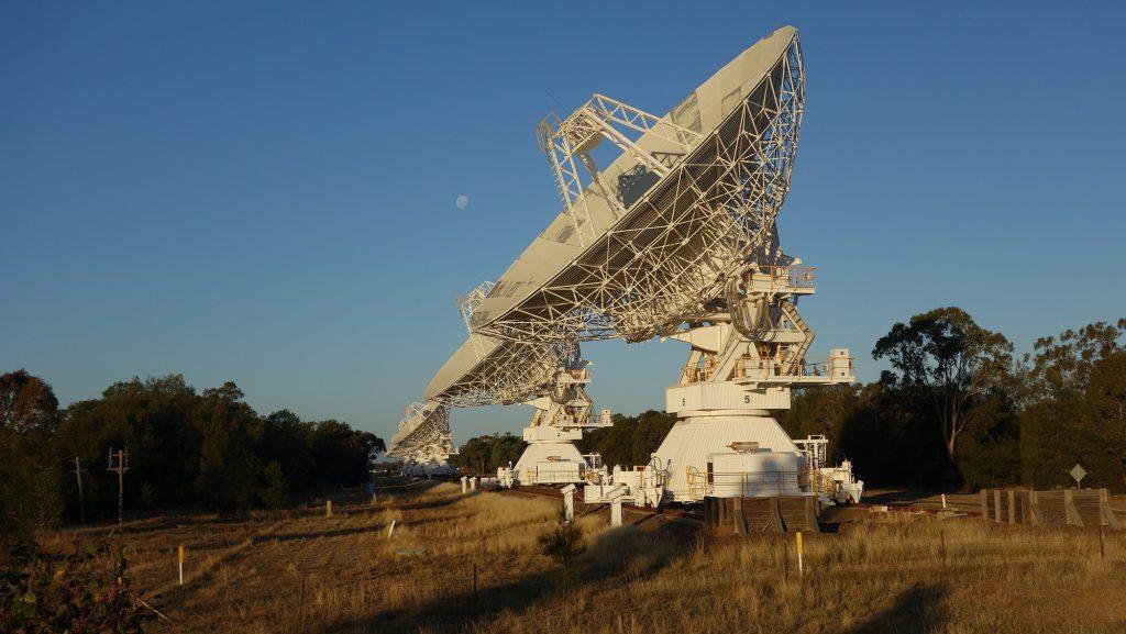 Compact Array antennas at sunset. Credit Sascha Schediwy.