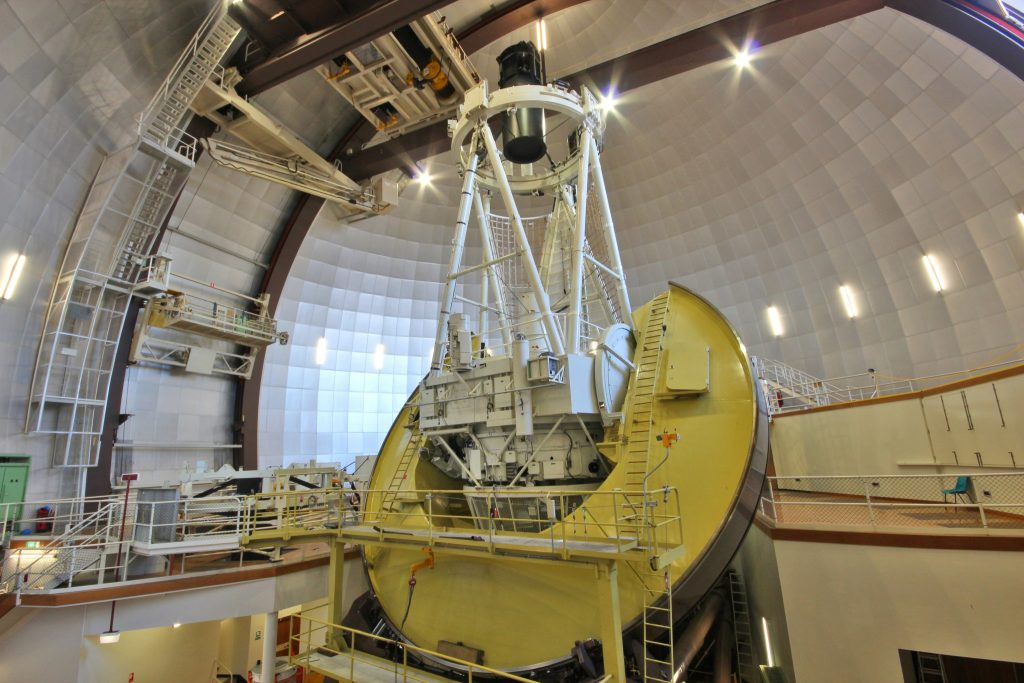 The 3.9 metre Anglo-Australian Telescope located at Siding Spring Observatory in NSW. Credit: Angel Lopez-Sanchez/AAO