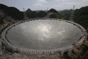 The Five-hundred-metre Aperture Spherical Telescope (FAST) in the southwestern province of Guizhou. Credit: Prof. Andreas Wicenec/ICRAR