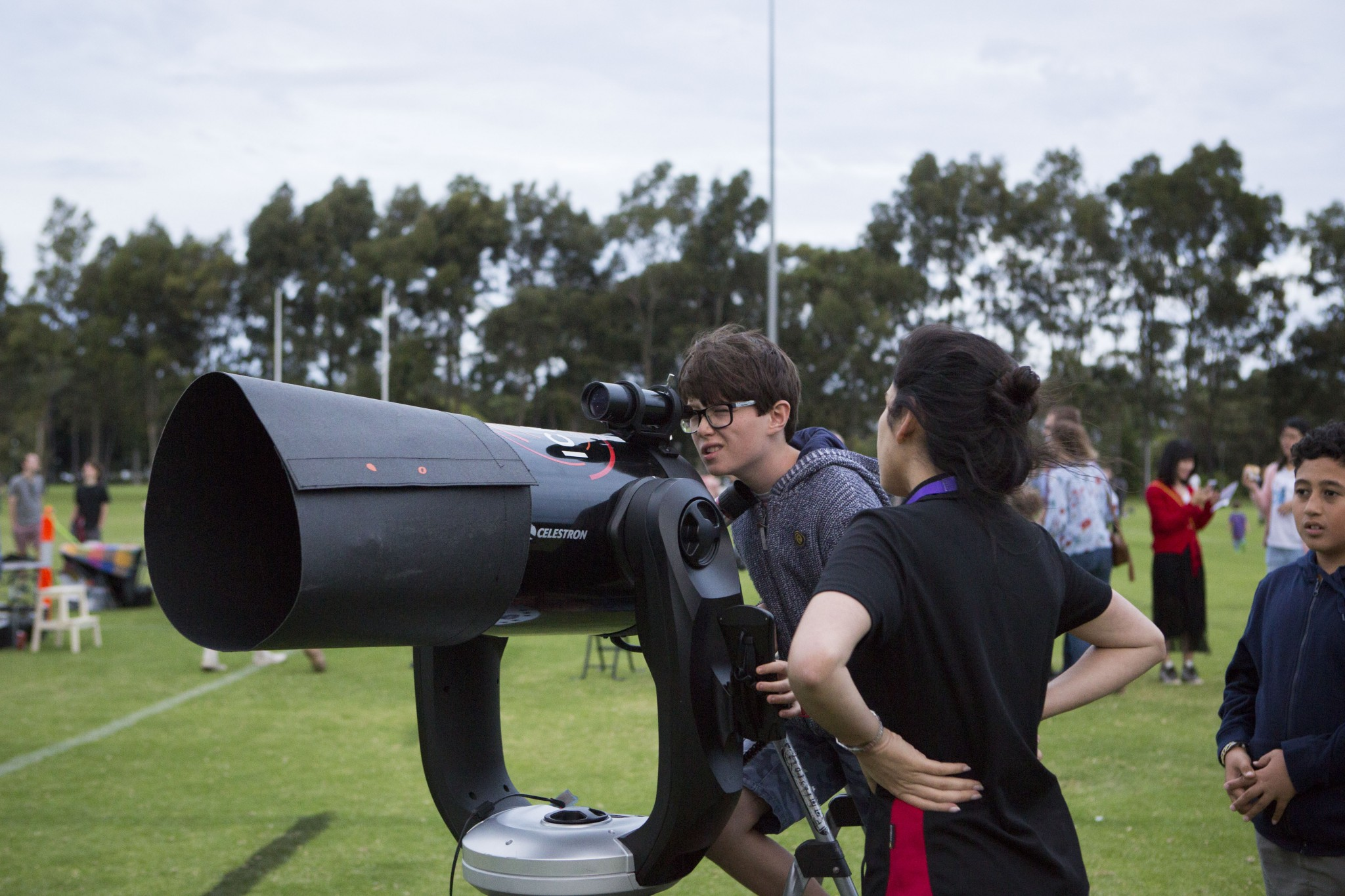 One of many telescopes at Astrofest 2018.