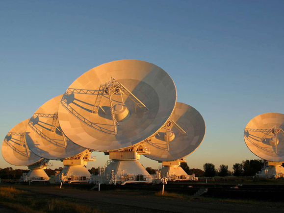 The Australian Compact Telescope Array at the Paul Wild Observatory, New South Wales, Australia. Image: D. Smyth, CSIRO