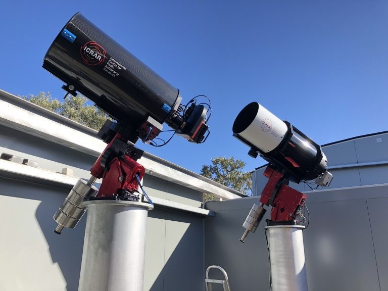 SPIRIT 4 has been installed next to SPIRIT 3 (right) in the Zadko Observatory.