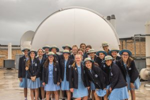 Iona Presentation Students visiting SPIRIT 1 & 2 on the UWA campus.