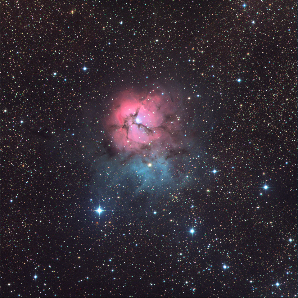 M20, the Trifid Nebula, as imaged by the Iona Presentation College students using SPIRIT.