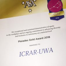 ICRAR recognised for commitment to equity, diversity and inclusion in ASA Pleiades Awards