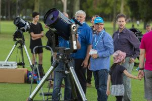 Telescopes at Astrofest 2019. Credit: Astronomy WA Astrofest.