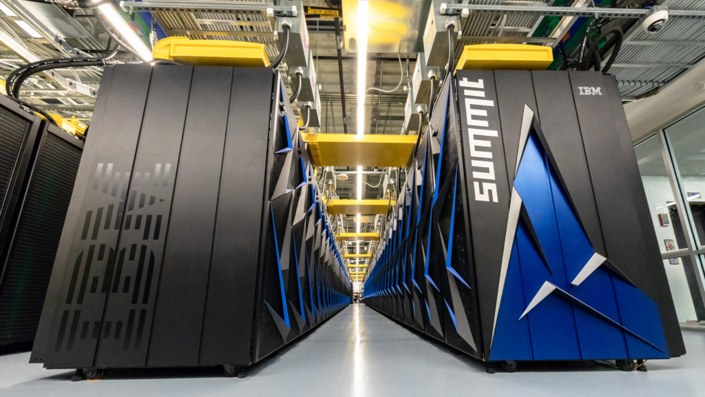 Summit — Oak Ridge National Laboratory's 200 petaflop supercomputer. Credit: Oak Ridge National Laboratory.