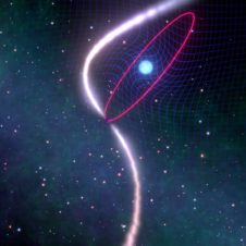 Astronomers witness the dragging of space-time in stellar cosmic dance Image
