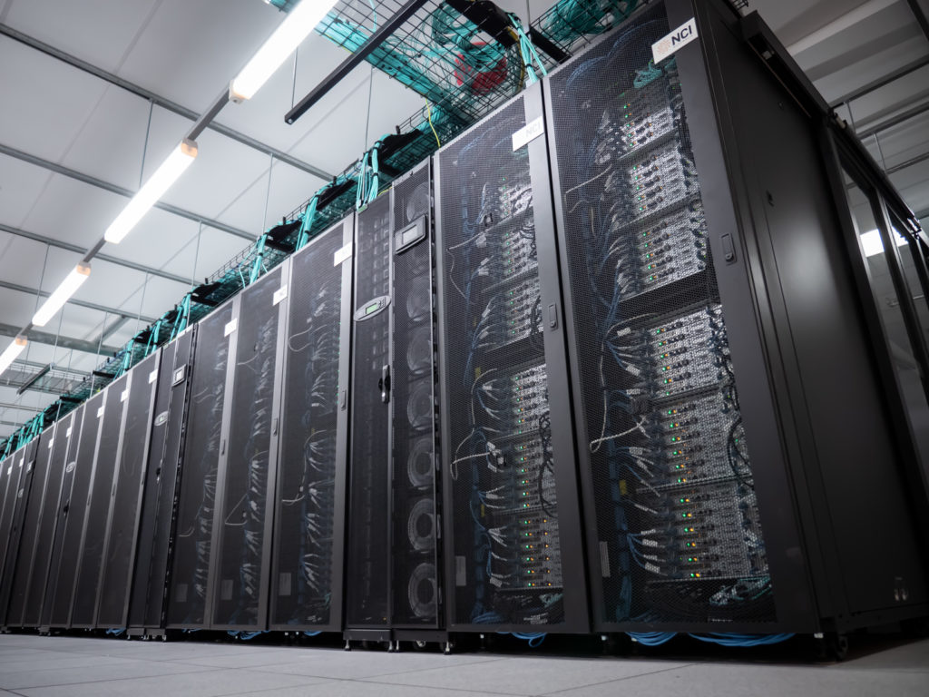 The supercomputer 'Gadi' that will be used for the research at NCI Australia, commissioned in early 2020. Credit: NCI Australia.