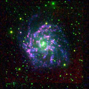 Colour image of NGC7424