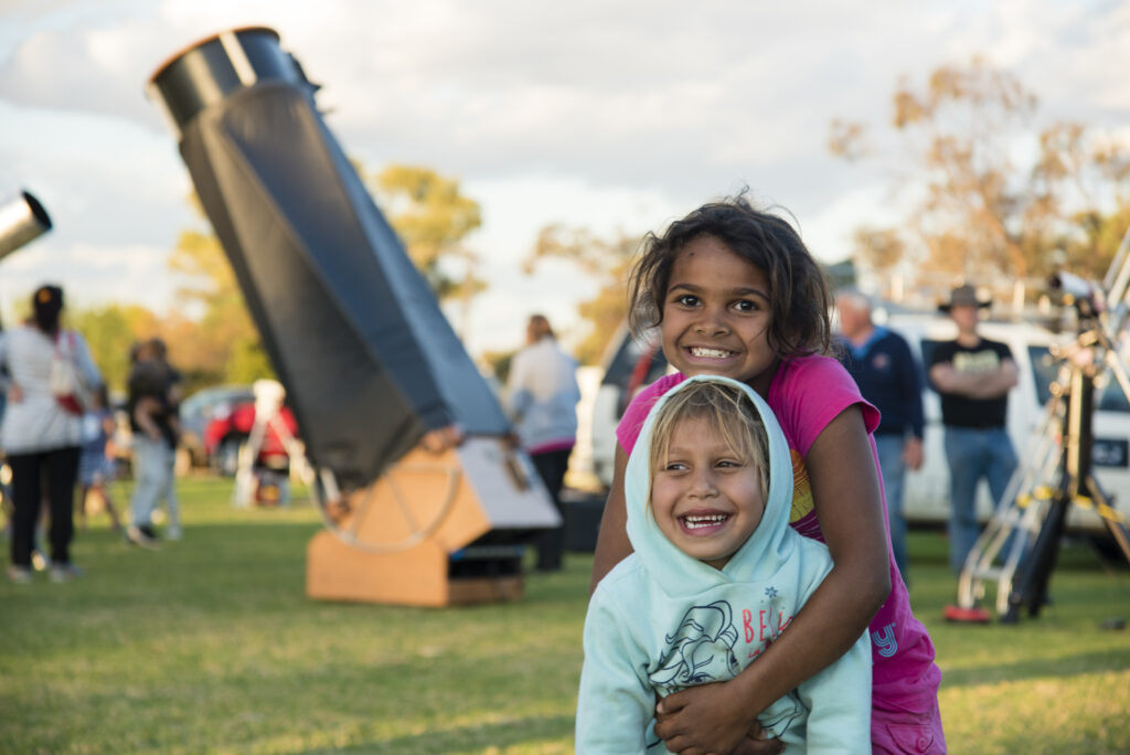 Local children attending a regional Astrofest in Mt Magnet.