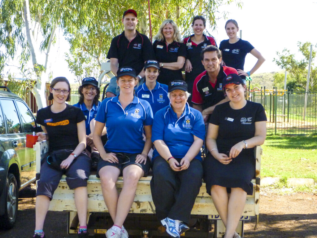Members of ICRAR's Outreach Team with staff from Aspire, Scitech and UWA's School of Indigenous Studies during a tour to schools and communities in the Pilbara.