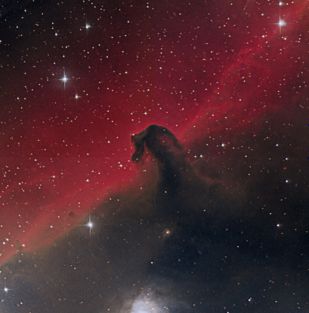 The Horsehead Nebula taken by Paul Luckas while testing the new SPIRIT 6 telescope, and processed by Colin Eldridge.