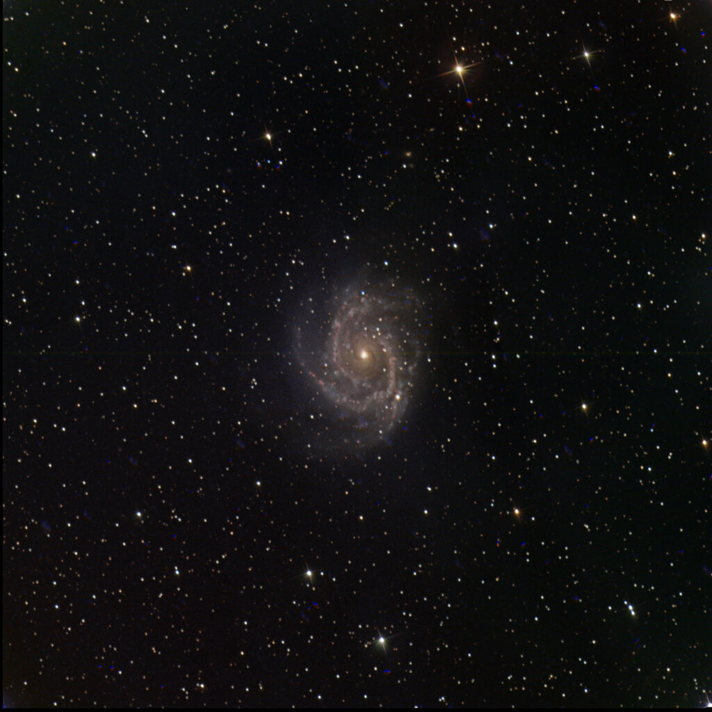 The spiral galaxy NGC 2997 taken by Paul Luckas while testing the new SPIRIT 6 telescope, and processed by Colin Eldridge.